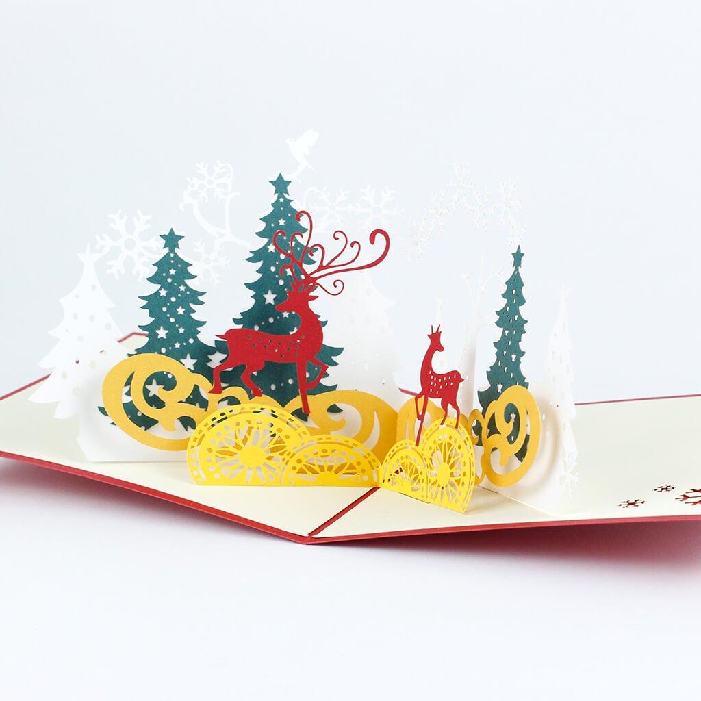 3D přání Vánoční zvířátka