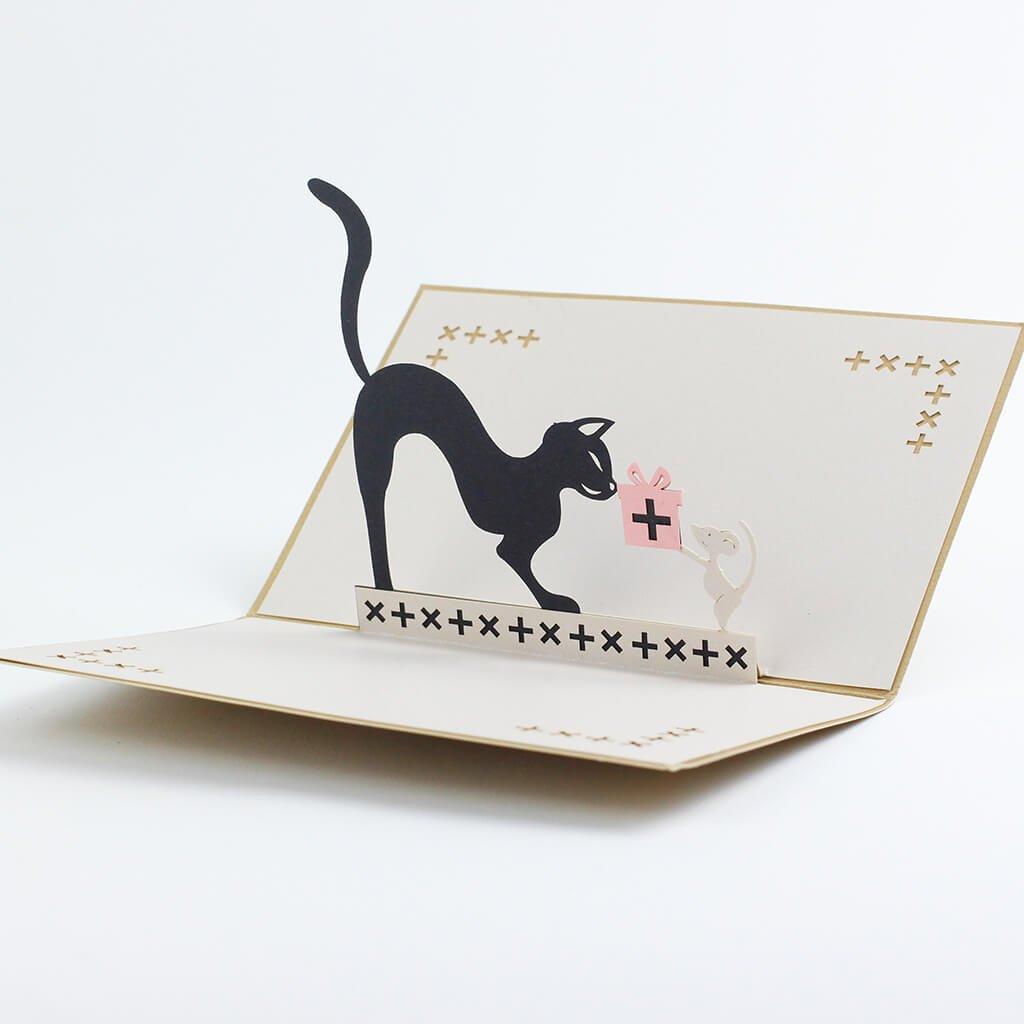 3D přání Kočka a myš