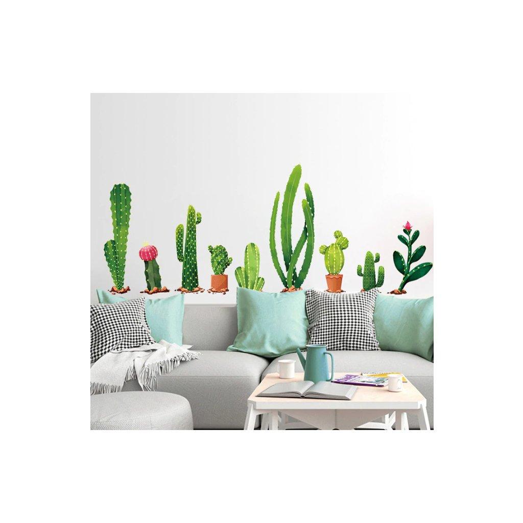 Samolepka na zeď Kaktusy