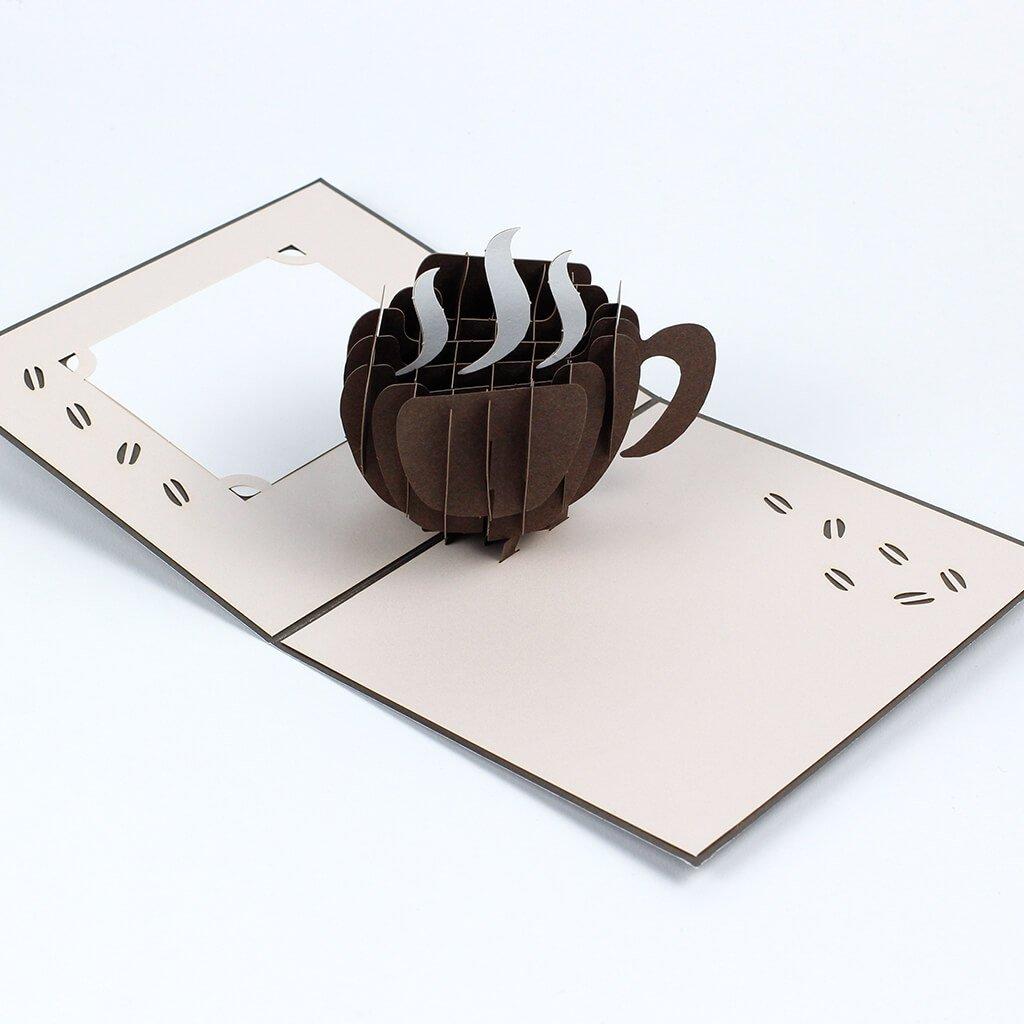 3D přání Šálek kávy
