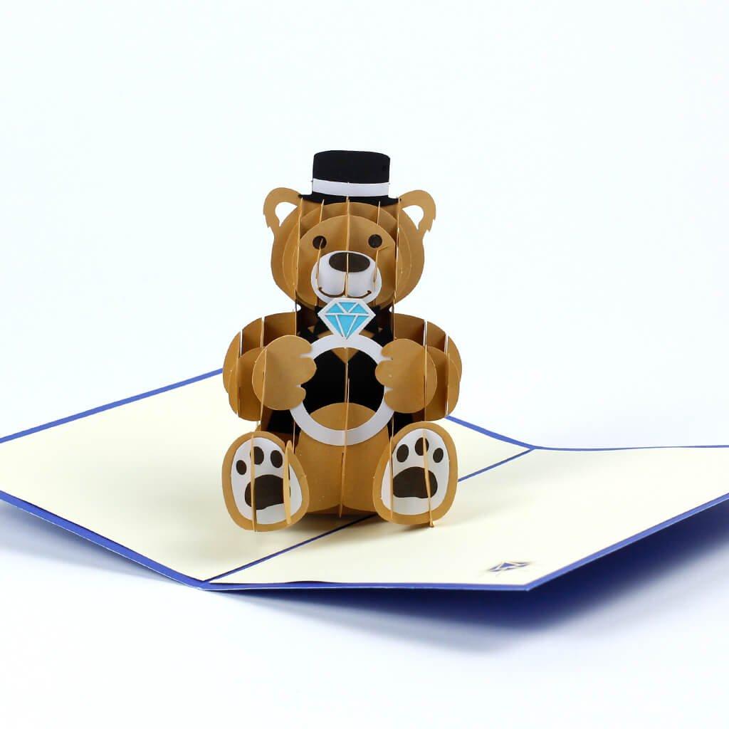 3D přání Medvídek k zásnubám