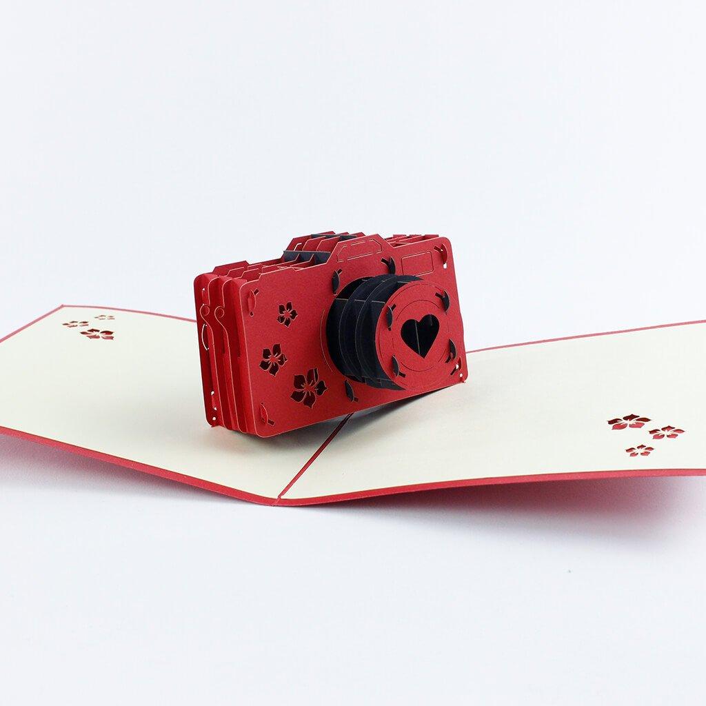 3D přání Červený fotoaparát