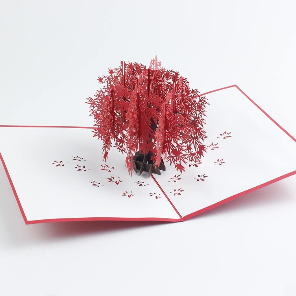 3D přání Červený strom