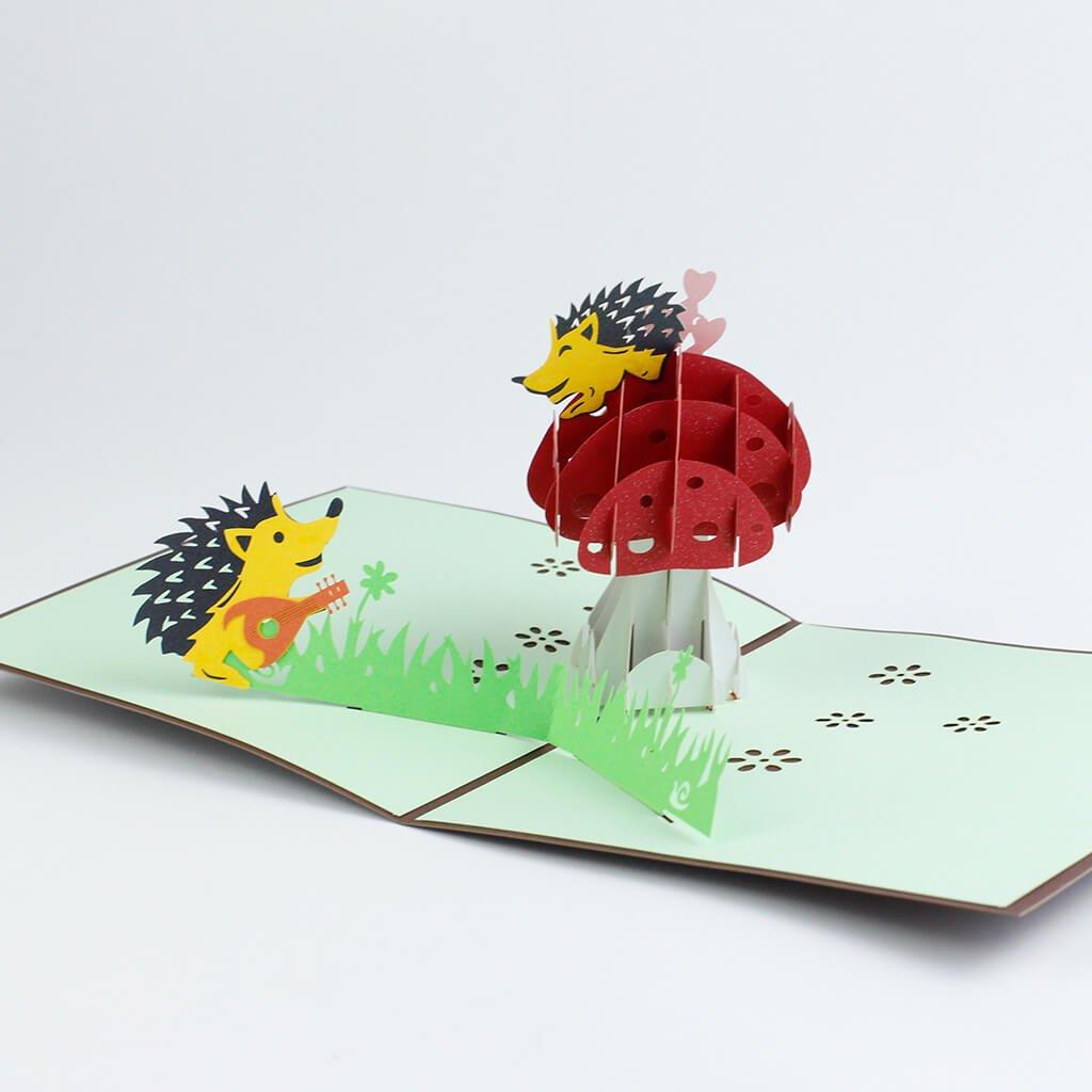 3D přání Zamilovaný ježek