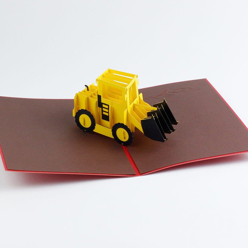 3D přání Žlutý bagr