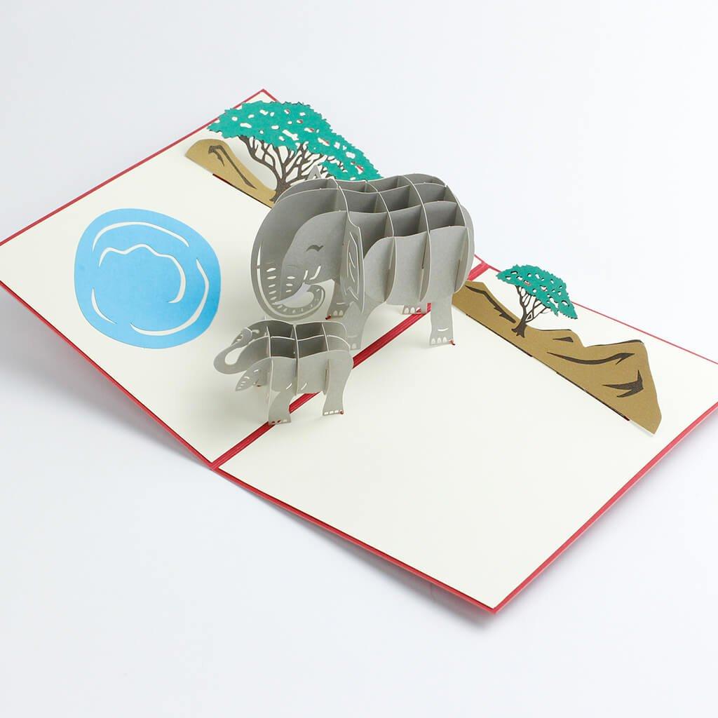 3D přání Sloni v Africe