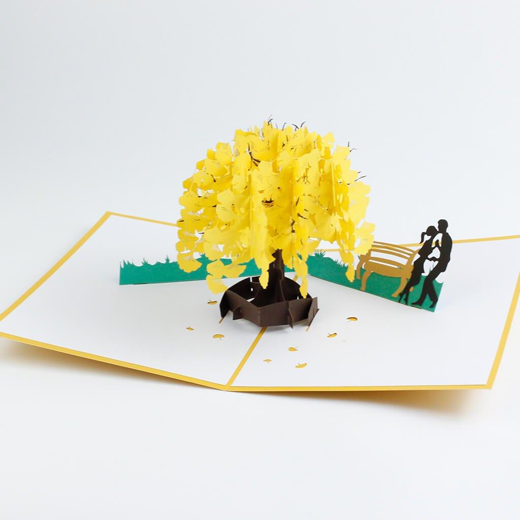 3D přání Láska pod žlutým stromem