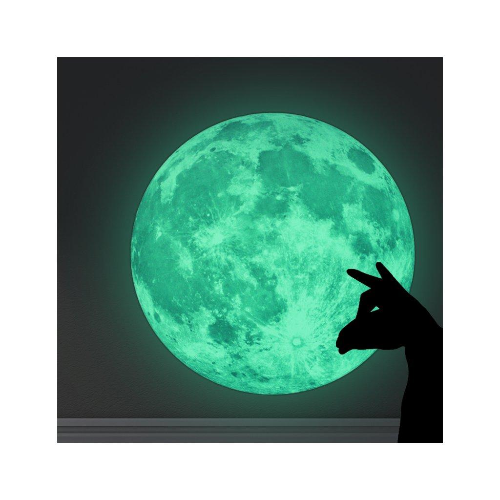 Samolepka Svítící Měsíc