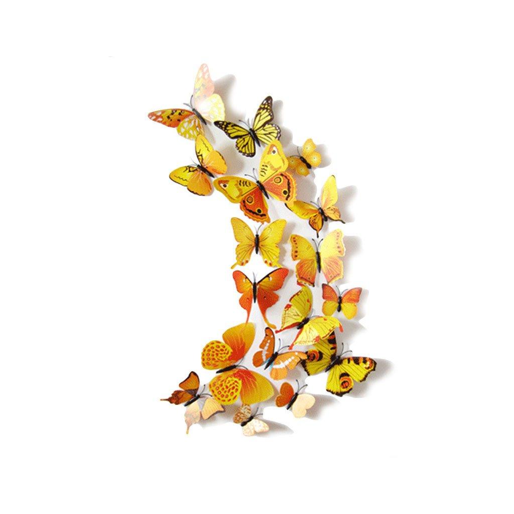 Motýlci magnet a samolepka Žlutí
