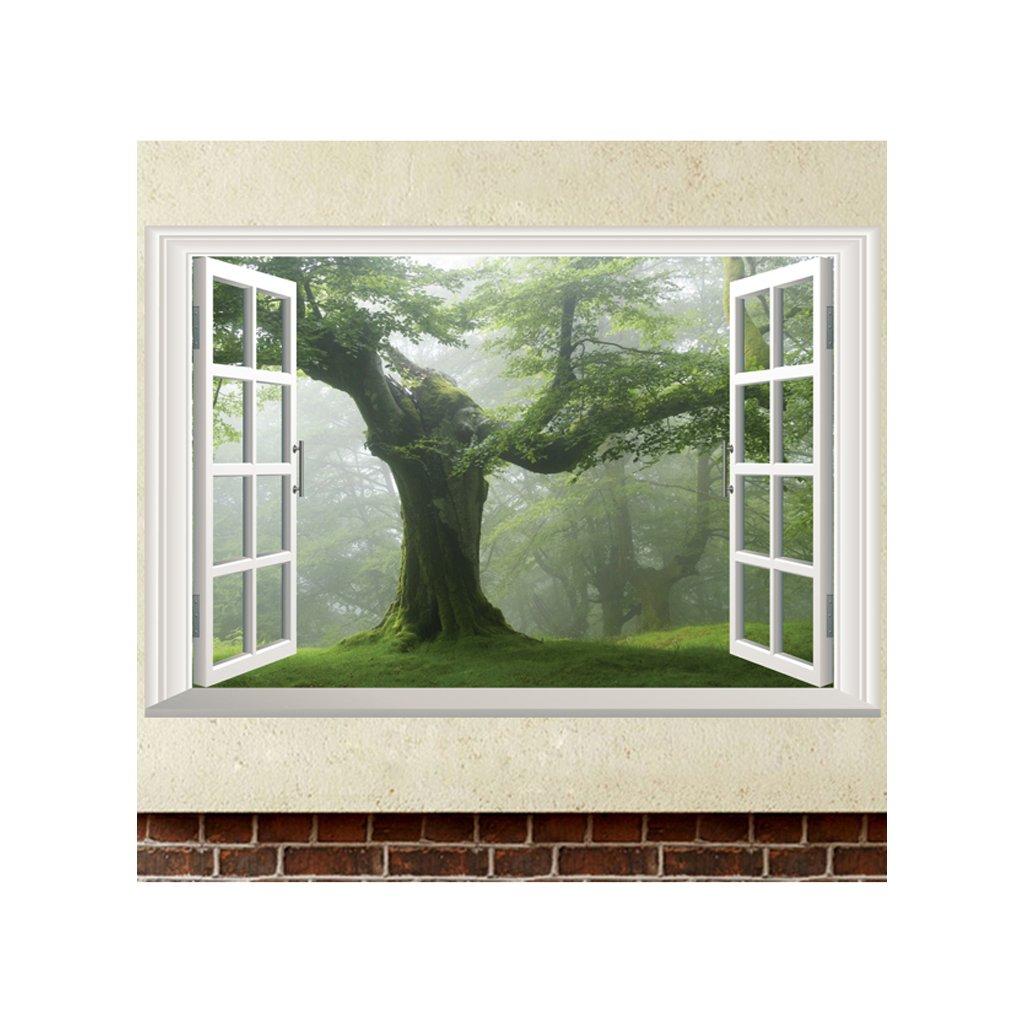 Samolepka Les za oknem