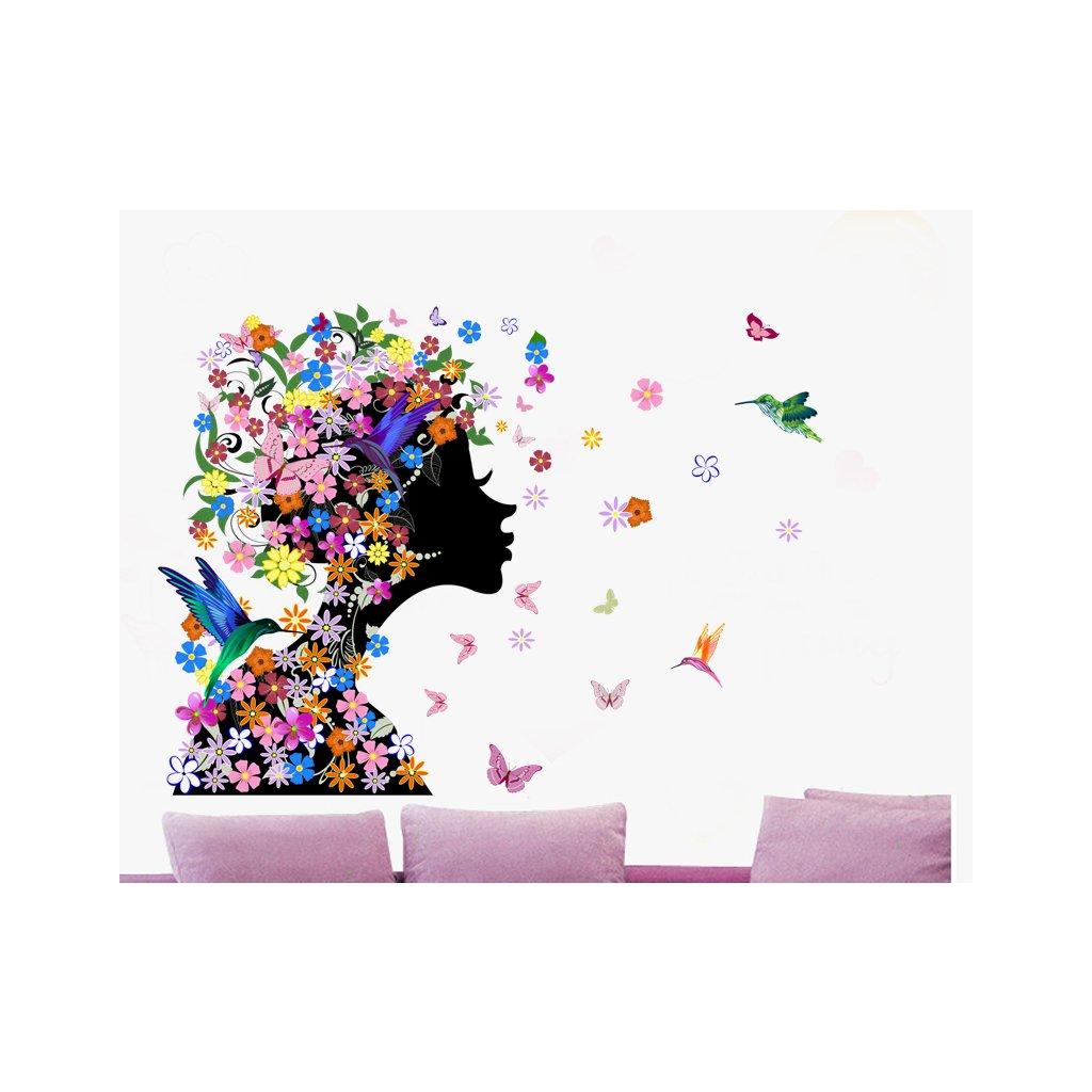 samolepka na zeď Květinová dívka