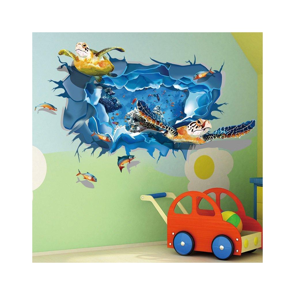samolepka na zeď Mořská želva