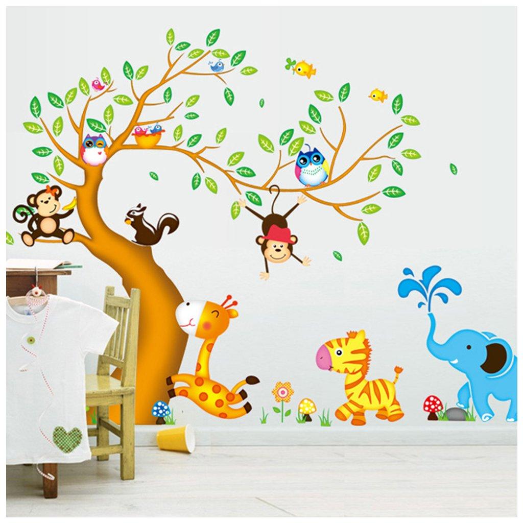 samolepka na zeď Strom a zvířátka ze Zoo