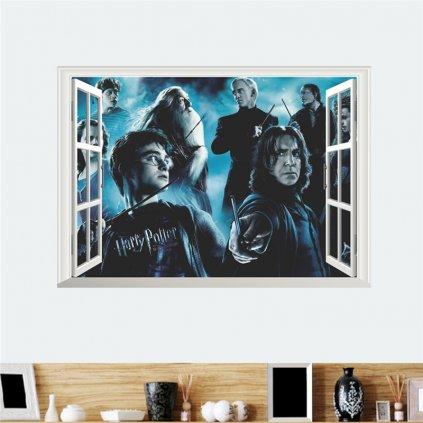 samolepka na zeď Harry Potter a kouzelnící
