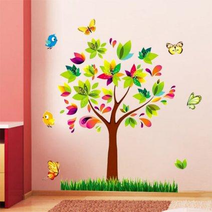 samolepka na zeď Barevný strom
