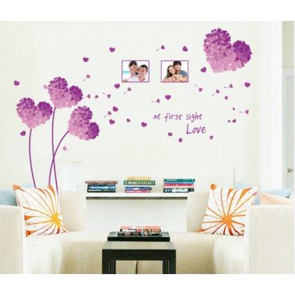 Samolepka na zeď Květy lásky