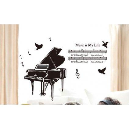Samolepka na zeď Klavír