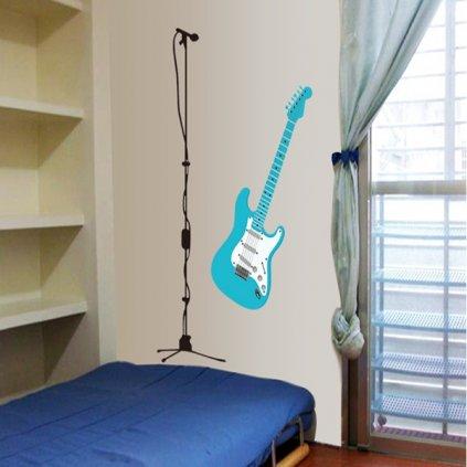Samolepka na zeď Elektrická kytara
