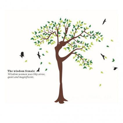 Samolepka na zeď Tančící strom