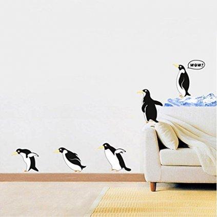 Samolepka na zeď Tučňáci na procházce