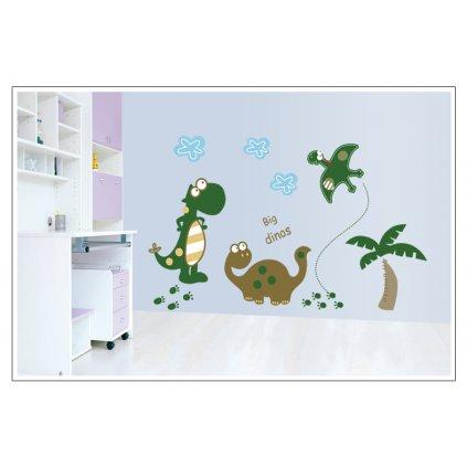 Samolepka na zeď Kreslení Dinosauři
