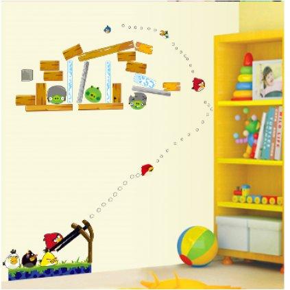 Samolepka na zeď Hra Angry Birds