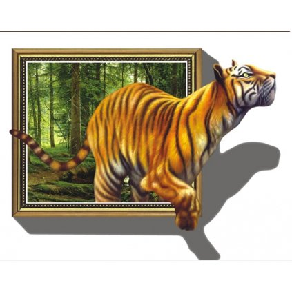 Samolepka na zeď Tygr v obraze