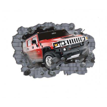 Samolepka na zeď Auto Hummer