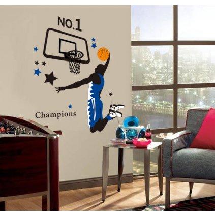 Samolepka na zeď Hráč basketbalu
