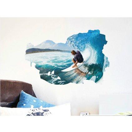 Samolepka na zeď Surfista na vlně