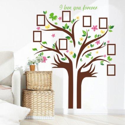 Samolepka na zeď Strom Nekonečné lásky
