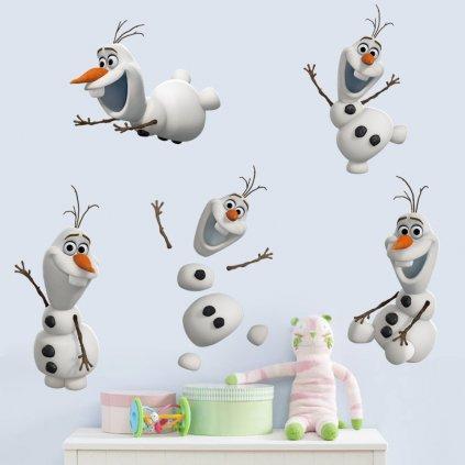 Samolepka na zeď sněhulák Olaf Ledové království