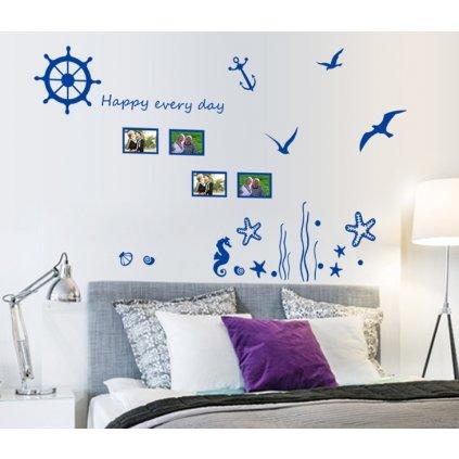 Samolepka na zeď Modré vzpomínky