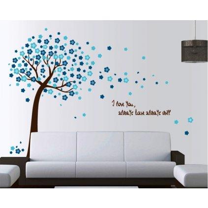 Samolepka na zeď Modrý strom