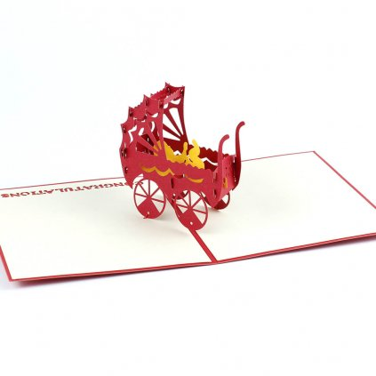3D přání Kočárek
