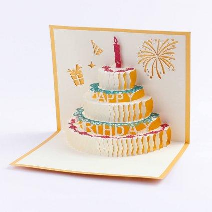 3D přání Dvoupatrový dort