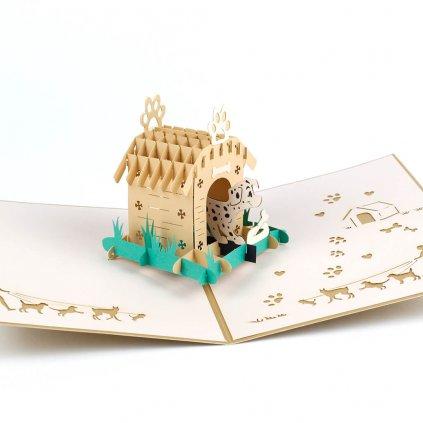 3D přání Pes v boudě