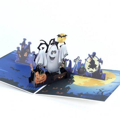 3D přání Halloween párty
