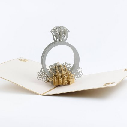 3D přání Zásnubní prsten