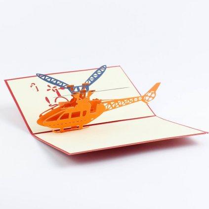 3D přání Helikoptéra