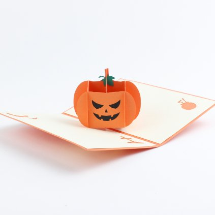 3D přání Halloween dýně