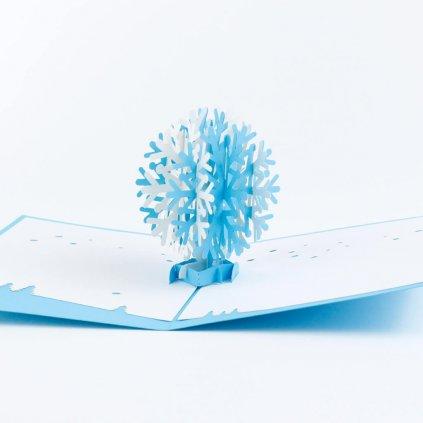 3D přání Sněhová vločka