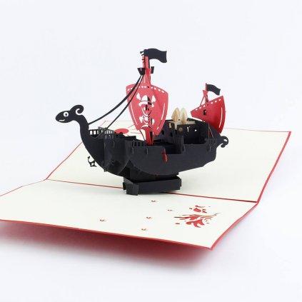 3D přání Pirátská loď