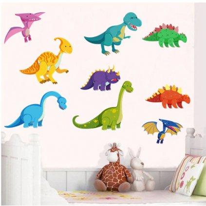 Samolepka Barevní Dinosauři