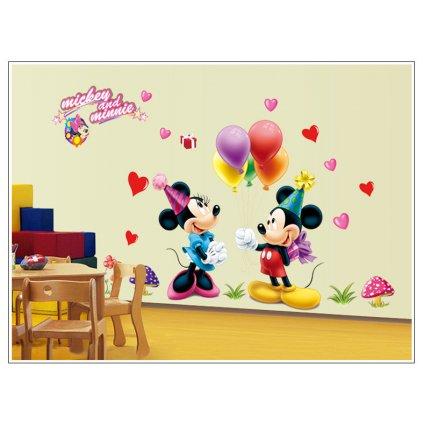 samolepka na zeď Mickey Mouse a Minnie