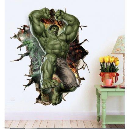 Samolepka na zeď Silný Hulk z Avengers
