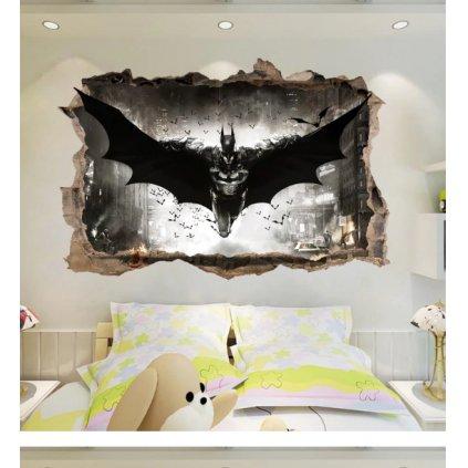 Samolepka na zeď Letící Batman