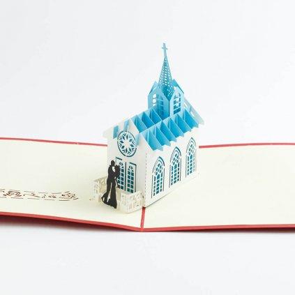 3D přání Svatba v kostele