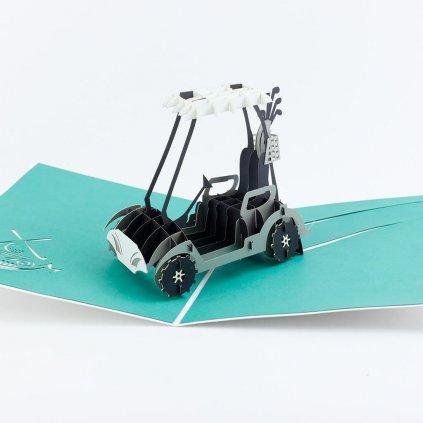 3D přání Golfový vozík