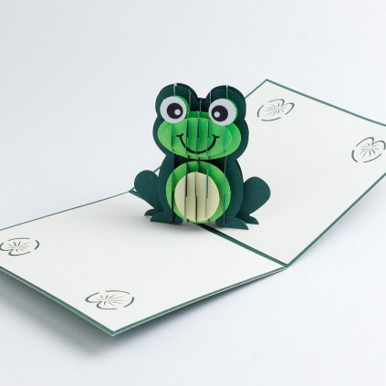 3D přání Žába
